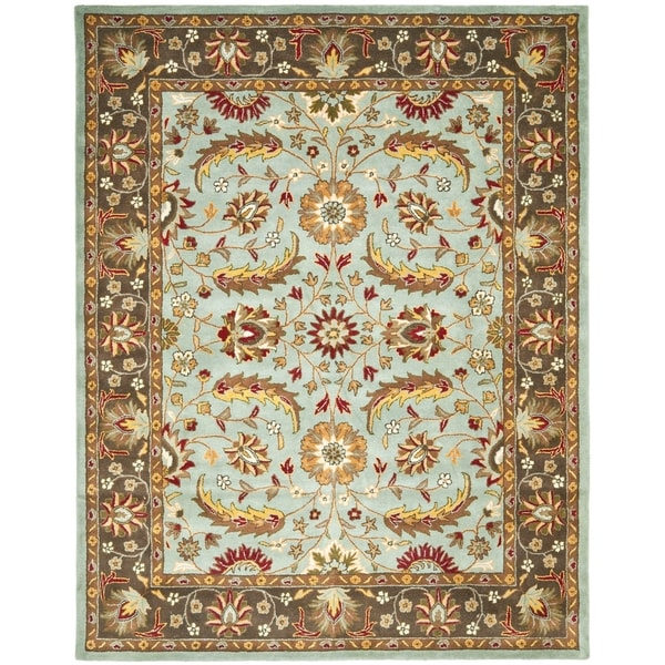 "Safavieh Handmade Heritage Timeless Traditional Blue/ Brown Wool Rug - 8'3"" x 11'"