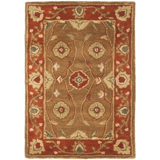 Safavieh Handmade Heritage Timeless Traditional Beige/ Rust Wool Rug (2' x 3')
