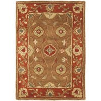 Safavieh Handmade Heritage Timeless Traditional Beige/ Rust Wool Rug - 2' x 3'