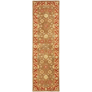 Safavieh Handmade Heritage Timeless Traditional Beige/ Rust Wool Runner (2'3 x 8')