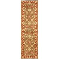 Safavieh Handmade Heritage Timeless Traditional Beige/ Rust Wool Runner Rug - 2'3 x 8'