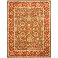 Safavieh Handmade Heritage Timeless Traditional Beige/ Rust Wool Rug - 7'6 x 9'6