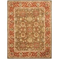 Safavieh Handmade Heritage Timeless Traditional Beige/ Rust Wool Rug - 8'3 x 11'