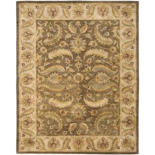 Safavieh Handmade Heritage Timeless Traditional Green/ Beige Wool Rug (5' x 8')