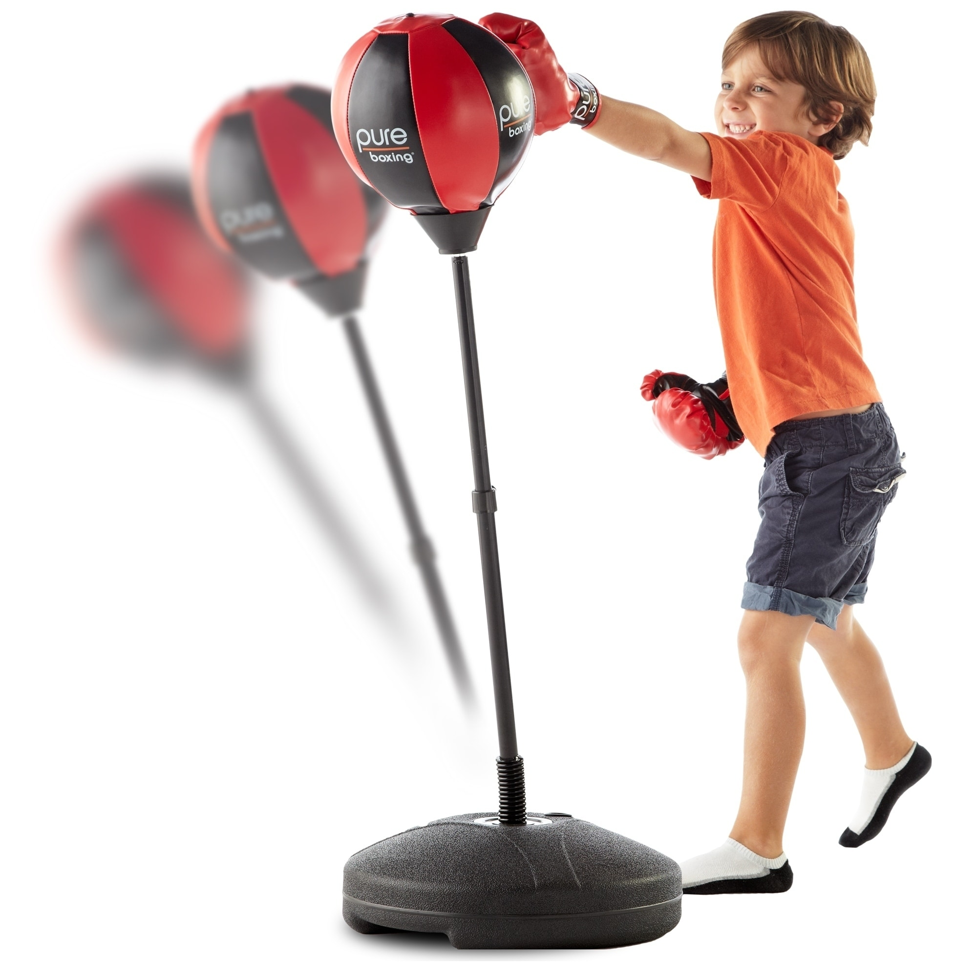 Pure Fitness Punch and Play Kids Boxing Set, Black