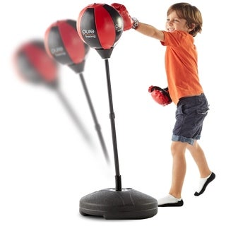 Pure Boxing Punch and Play Punching Bag for Kids - Red (2 options available)