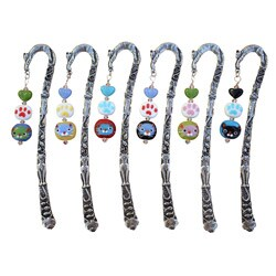Beadwork by Julie Pewter Beaded Cat Bookmark