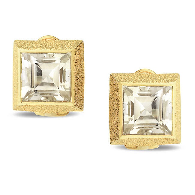 Miadora New York Gems Yellow Silver Citrine Earrings