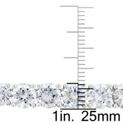 Sterling Silver Cubic Zirconia Link Necklace - Thumbnail 2