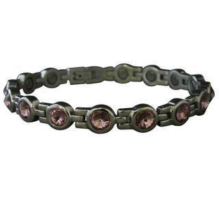 Amethyst Cubic Zirconia Magnetic Bracelet
