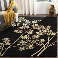 Safavieh Handmade Soho Autumn Black New Zealand Wool Rug (8' Square) - 8' x 8'