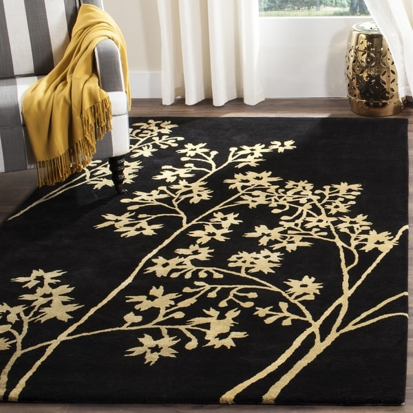 Safavieh Handmade Soho Autumn Black New Zealand Wool Rug - 8' x 8' Square