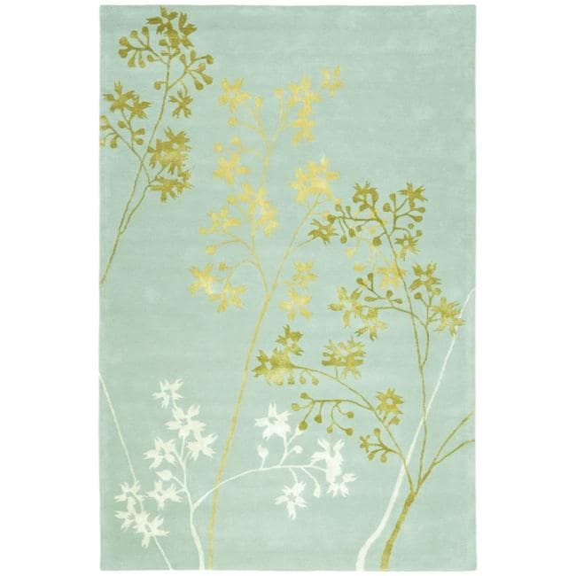 Safavieh Handmade Soho Autumn Light Blue New Zealand Wool Rug (3'6 x 5'6')