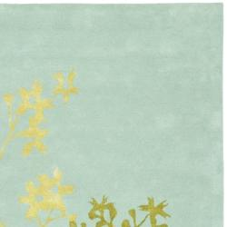 Safavieh Handmade Soho Autumn Light Blue New Zealand Wool Rug (3'6 x 5'6') - Thumbnail 1