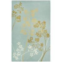 "Safavieh Handmade Soho Autumn Light Blue New Zealand Wool Rug - 3'-6"" X 5'-6"""