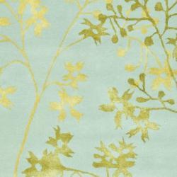 Safavieh Handmade Soho Autumn Light Blue New Zealand Wool Rug (5'x 8') - Thumbnail 2