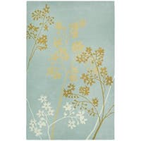 Safavieh Handmade Soho Autumn Light Blue New Zealand Wool Rug - 5' x 8'