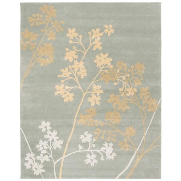 "Safavieh Handmade Soho Autumn Light Blue New Zealand Wool Rug - 7'-6"" x 9'-6"""