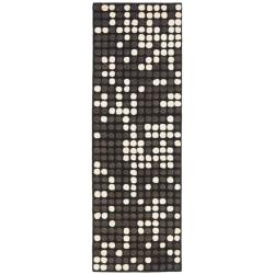 Safavieh Handmade Soho Dots Black New Zealand Wool Runner (2'6 x 8')