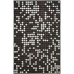 Safavieh Handmade Soho Dots Black New Zealand Wool Rug (3'6 x 5'6')