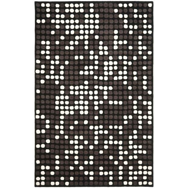 Safavieh Handmade Soho Dots Black New Zealand Wool Rug - 7'6 x 9'6