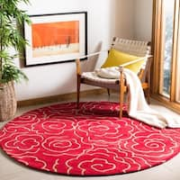 Safavieh Handmade Soho Roses Red New Zealand Wool Rug - 2' X 3'