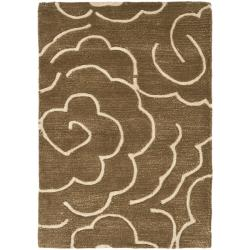 Safavieh Handmade Soho Roses Brown New Zealand Wool Rug (2' x 3')