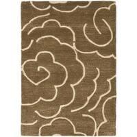 Safavieh Handmade Soho Roses Brown New Zealand Wool Rug - 2' x 3'
