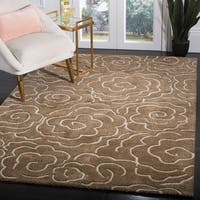 "Safavieh Handmade Soho Roses Brown New Zealand Wool Rug - 3'-6"" x 5'-6"""