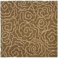 Safavieh Handmade Soho Roses Brown New Zealand Wool Rug (6' Square) - 6'