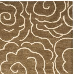 Safavieh Handmade Soho Roses Brown New Zealand Wool Rug (7'6 x 9'6)