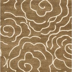 Safavieh Handmade Soho Roses Brown New Zealand Wool Rug (7'6 x 9'6) - Thumbnail 2