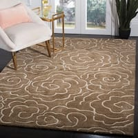 "Safavieh Handmade Soho Roses Brown New Zealand Wool Rug - 7'-6"" X 9'-6"""