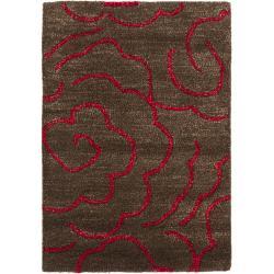 Safavieh Handmade Soho Roses Chocolate New Zealand Wool Rug (2' x 3')