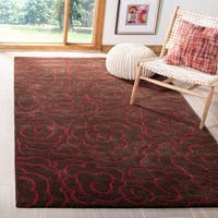 Safavieh Handmade Soho Roses Chocolate New Zealand Wool Rug - 5' x 8'
