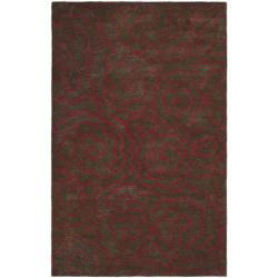 Safavieh Handmade Soho Roses Chocolate New Zealand Wool Rug - 7'6 x 9'6 - Thumbnail 0