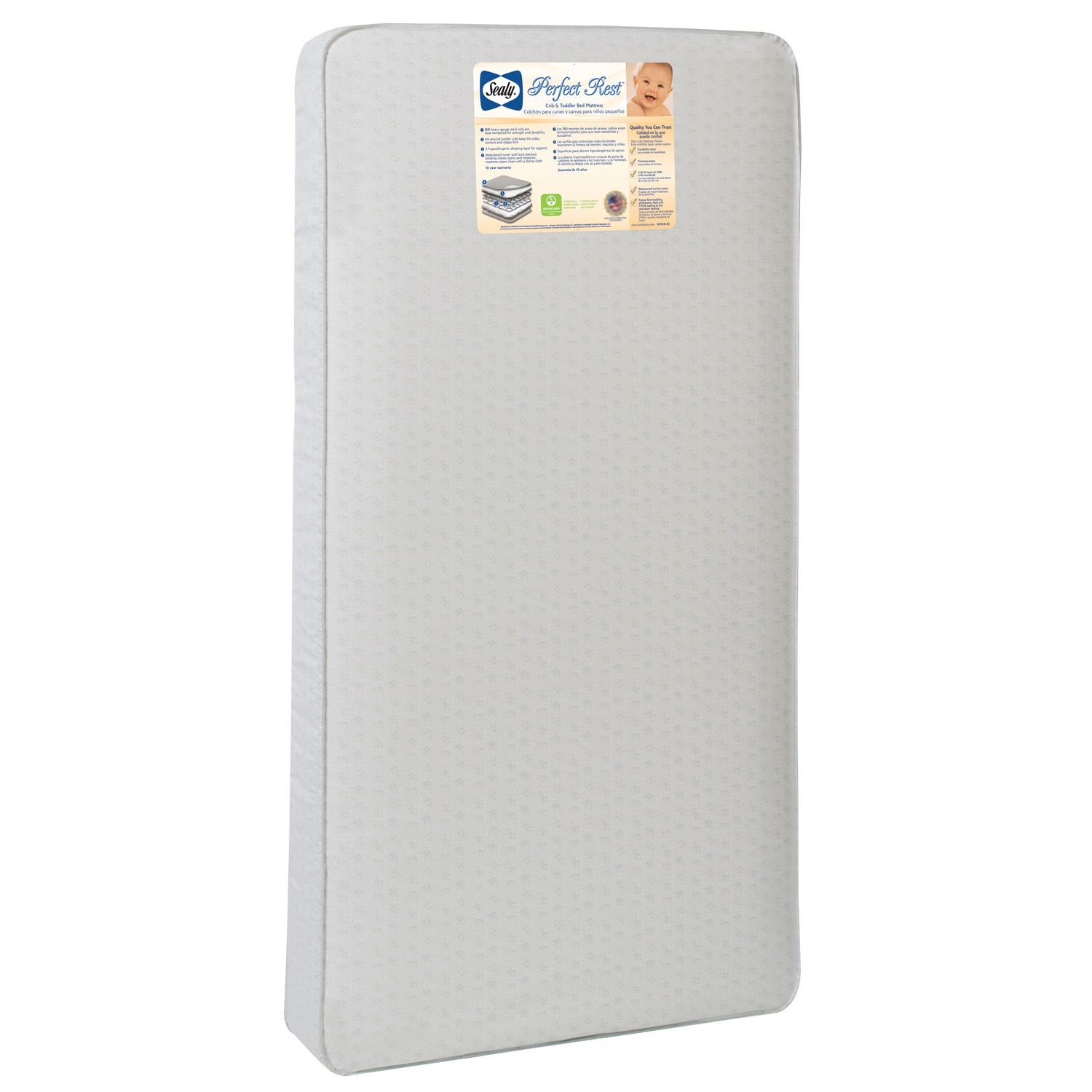 Sealy Perfect Rest 150-coil Infant/ Toddler Crib Mattress...