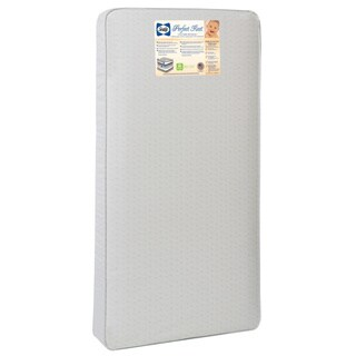 Sealy Perfect Rest 150-coil Infant/ Toddler Crib Mattress with Waterproof Cover - White