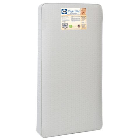 Sealy Perfect Rest 150-coil Infant / Toddler Crib Mattress with Waterproof Cover - White