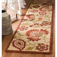 "Safavieh Handmade Blossom Paisley Beige Wool Rug - 2'3"" x 8'"
