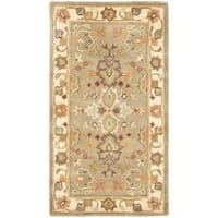 Safavieh Handmade Heritage Traditional Oushak Light Green/Beige Wool Rug - 2' x 3'