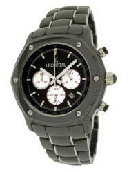 Le Chateau Men's Black 'Persida LC' Ceramic Watch