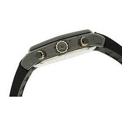 Le Chateau Men's 'Persida LC' Black Rubber Strap Watch