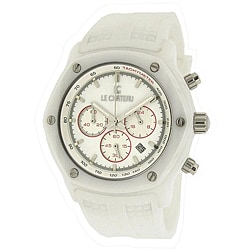 Le Chateau Women's White 'Persida LC' Rubber Strap Watch