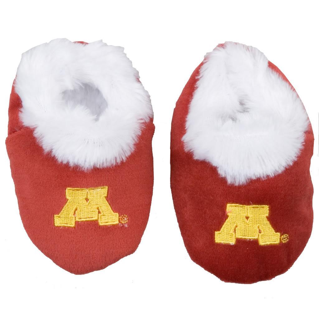 Minnesota Golden Gophers Baby Bootie Slippers