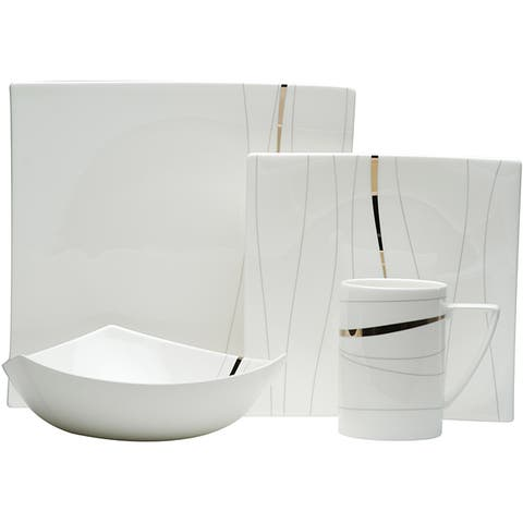 Odett Platinum 4pc Dinner Set