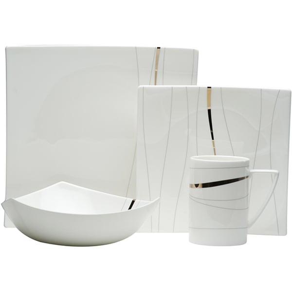 Red Vanilla Odett Platinum 4-piece Dinnerware Set