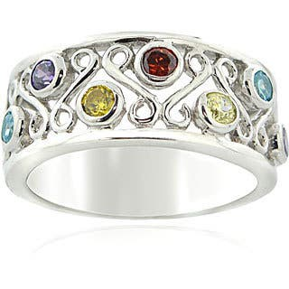 Icz Stonez Sterling Silver Multi-colored Cubic Zirconia Ring|https://ak1.ostkcdn.com/images/products/5630384/P13386397.jpg?impolicy=medium