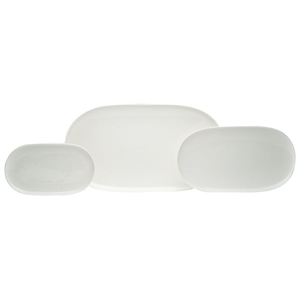 Red Vanilla Everytime White 3-piece Platter Set