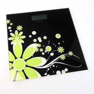 Weighmax Black Floral Digital Bathroom Scale